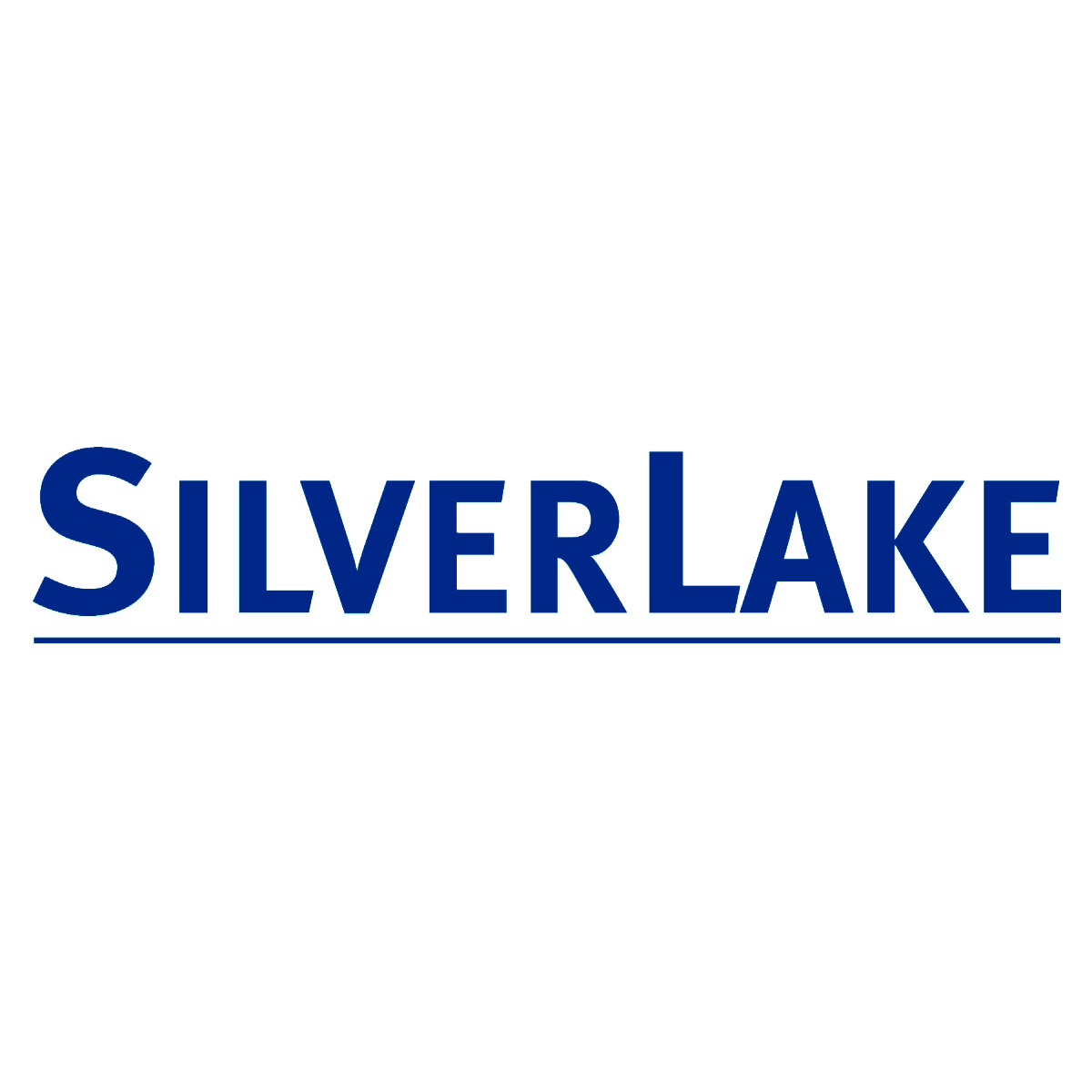 Silver Lake Logo - blue on a white background